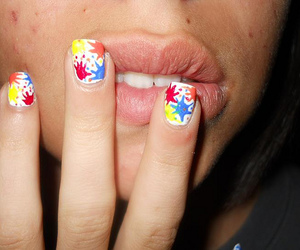 fingers, lips, and manicure image