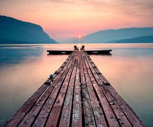 beautiful, sunset, and sea image