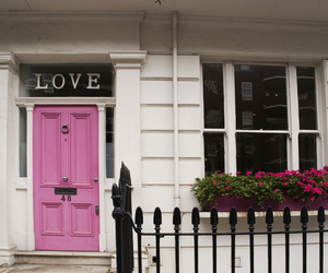 love, pink, and house image