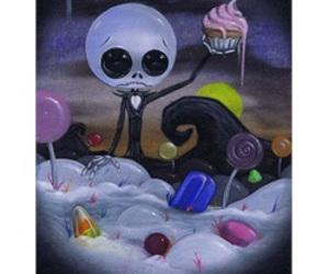 jack skellington and sugar fueled art image