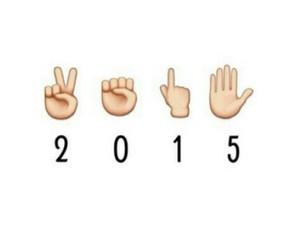 2015, new year, and emoji image