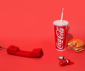 coca cola, minimal, and food image