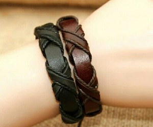 bracelet and leather image