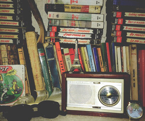 books, old, and radio image