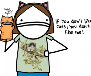 cat, cartoon, and funny image