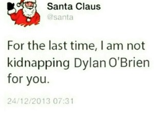 dylan o'brien, christmas, and santa claus image