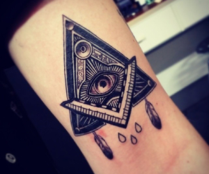 eye, tattoo, and allseeingeye image
