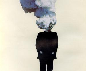 art, smoke, and man image
