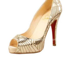 cl pumps and gold christian louboutin image