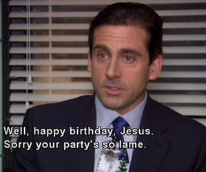 christmas, jesus, and the office image