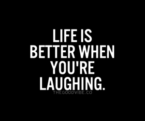 quote, life, and laughing image