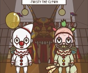 american horror story, twisty, and clown image