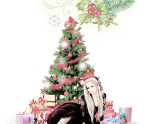 christmas and Avril Lavigne image