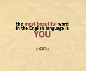 beautiful, word, and you image