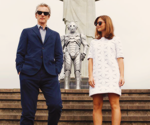 doctor who, jenna coleman, and cyberman image