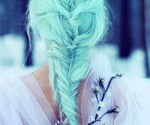 hair, winter, and blue image