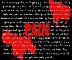 three days grace, pain, and music image