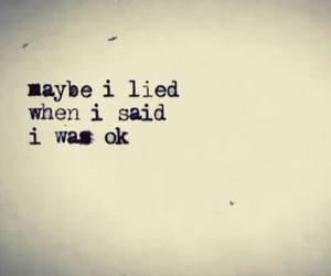 ok, sad, and lied image