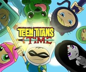 teen titans, adventure time, and robin image
