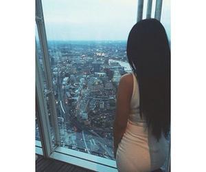 girl, city, and dress image