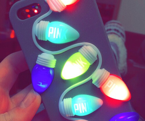 lights, iphone cases, and pink image
