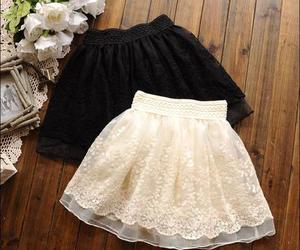 skirt, black, and fashion image