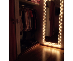 bedroom, mirror, and girly image