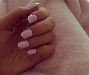 manicure, summer, and pink nail polish image