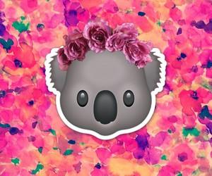 emoji, flowers, and Koala image