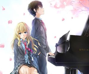 piano, shigatsu wa kimi no uso, and steinway and sons image