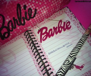 barbie, girly, and notebook image