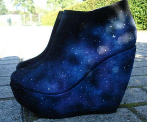 shoes and galaxy image