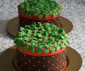 cake, christmas, and festive image