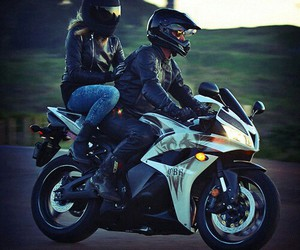 motorbike and love image