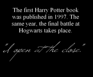harry potter, hogwarts, and i open at the close image