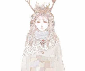 girl, bird, and anime image