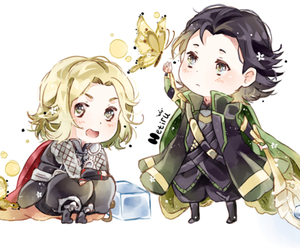 chibi, thor, and loki image