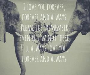 forever and always, Lyrics, and parachute image