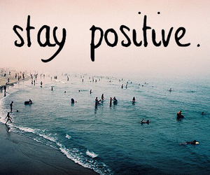 positive, beach, and quotes image
