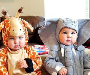 baby, cute, and giraffe image