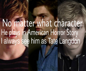 tate, ilovehim, and ahs image