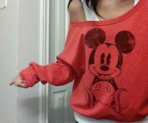fashion, mickey mouse, and girl image