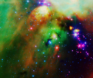 galaxy, sky, and stars image