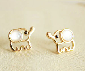 elephant, cute, and earrings image