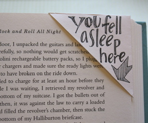 book, bookmark, and sleep image