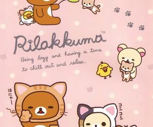 bear, kawaii, and pink image