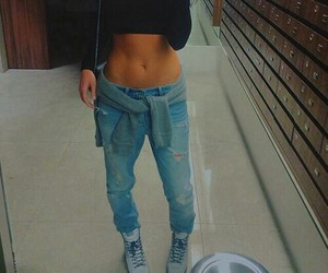 style, body, and jeans image