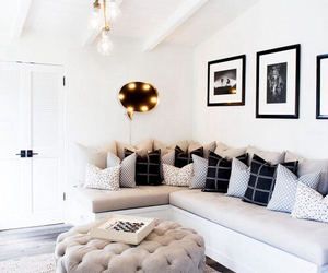 white, home, and pillows image