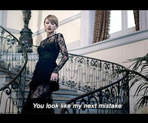 beautiful, black dress, and blank space image