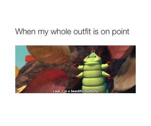 funny, outfit, and butterfly image